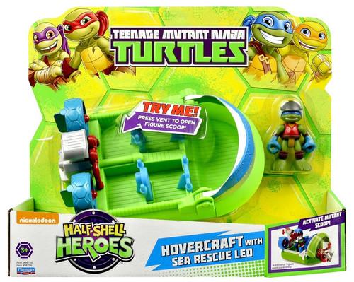 Teenage Mutant Ninja Turtles Nickelodeon Half Shell Heroes Hovercraft Action Figure Vehicle [with Sea Rescue Leo]
