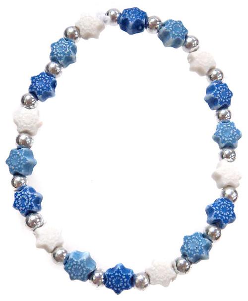 Frozen Snowflakes Bracelet [White, Blue & Dark Blue]