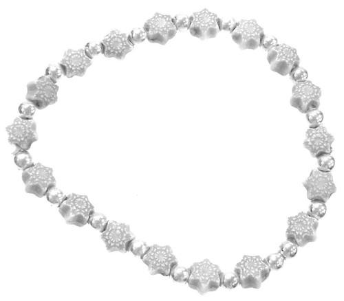 Frozen Snowflakes Bracelet [White]