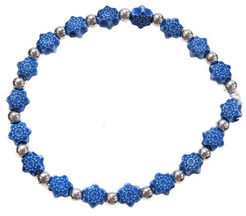 Frozen Snowflakes Bracelet [Dark Blue]
