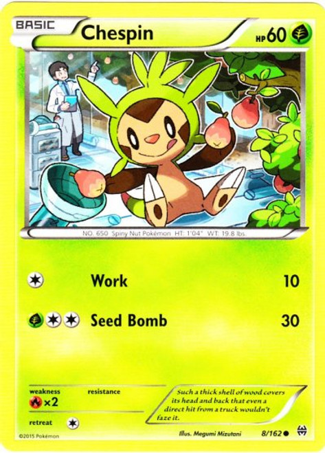 Pokemon X & Y BREAKthrough Common Chespin #8