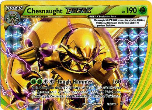Pokemon X & Y BREAKthrough Rare Holo BREAK Chesnaught BREAK #12