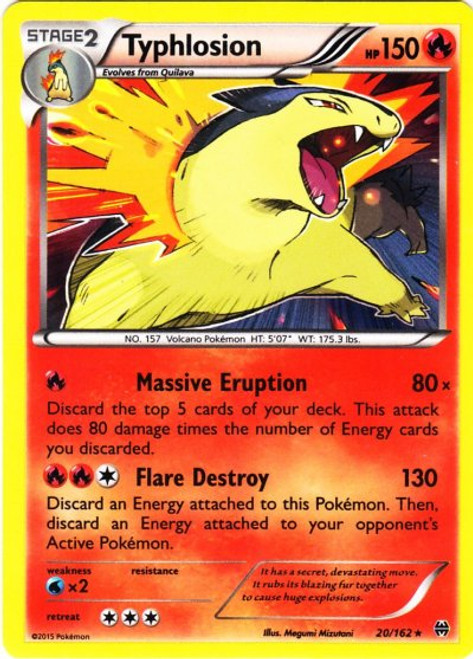 Pokemon X & Y BREAKthrough Rare Holo Typhlosion #20