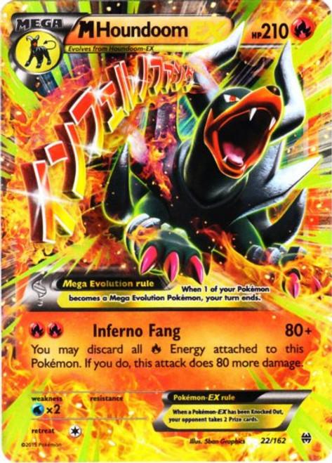 Pokemon X & Y BREAKthrough Ultra Rare M Houndoom EX #22