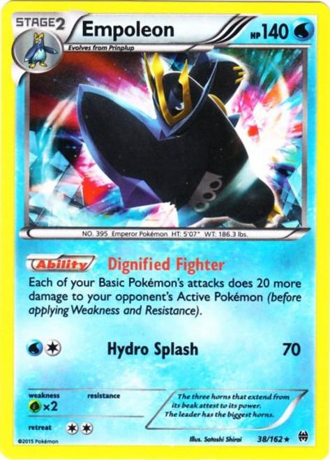 Pokemon X & Y BREAKthrough Rare Holo Empoleon #38