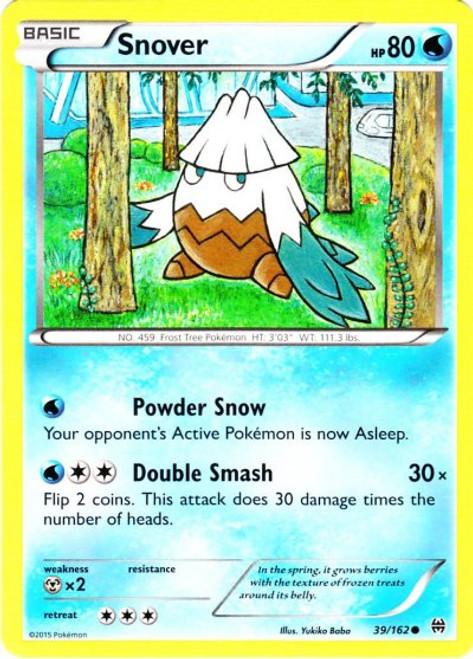Pokemon X & Y BREAKthrough Common Snover #39