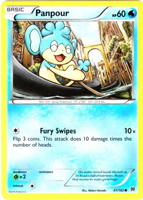 Pokemon X & Y BREAKthrough Common Panpour #41