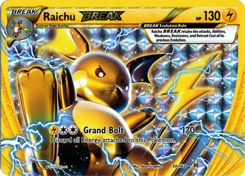 Pokemon X & Y BREAKthrough Rare Holo BREAK Raichu BREAK #50