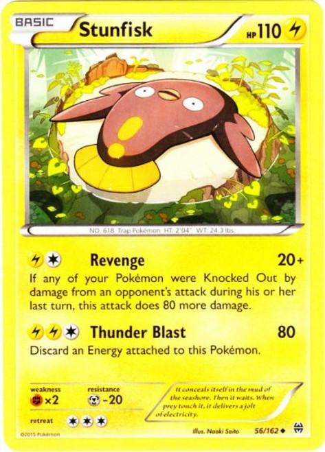Pokemon X & Y BREAKthrough Uncommon Stunfisk #56