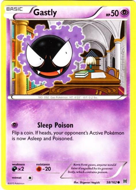 Pokemon X & Y BREAKthrough Common Gastly #58