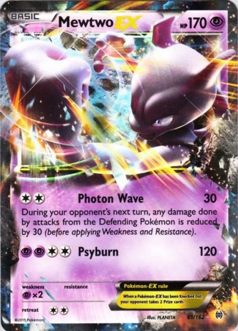Pokemon X & Y BREAKthrough Ultra Rare Mewtwo EX #61