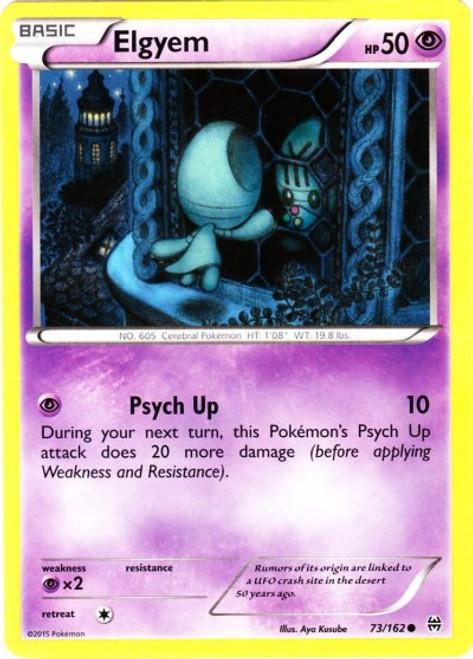 Pokemon X & Y BREAKthrough Common Elgyem #73