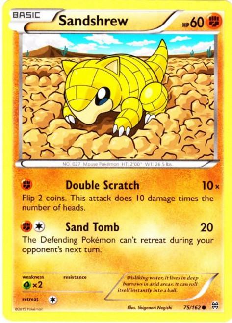 Pokemon X & Y BREAKthrough Common Sandshrew #75