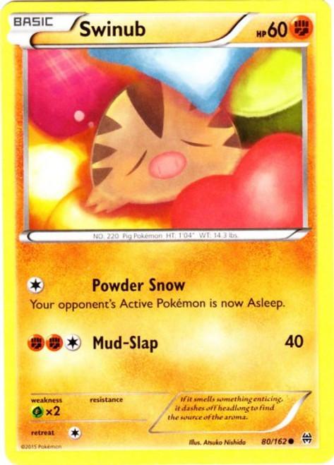 Pokemon X & Y BREAKthrough Common Swinub #80