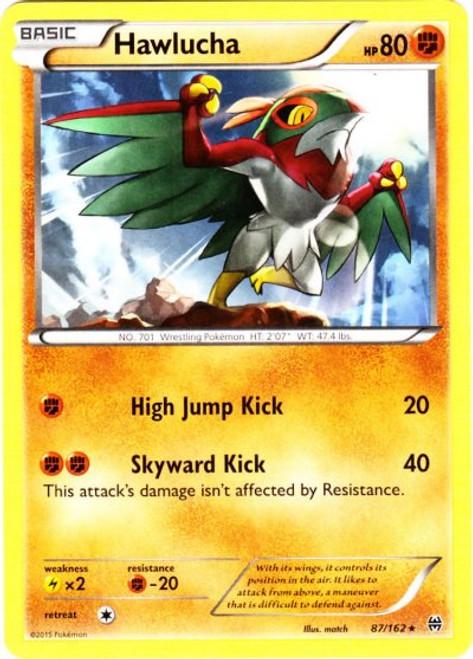 Pokemon X & Y BREAKthrough Rare Hawlucha #87