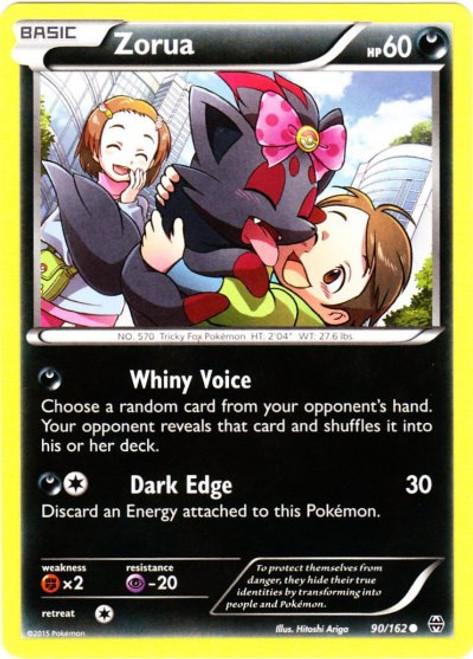 Pokemon X & Y BREAKthrough Common Zorua #90