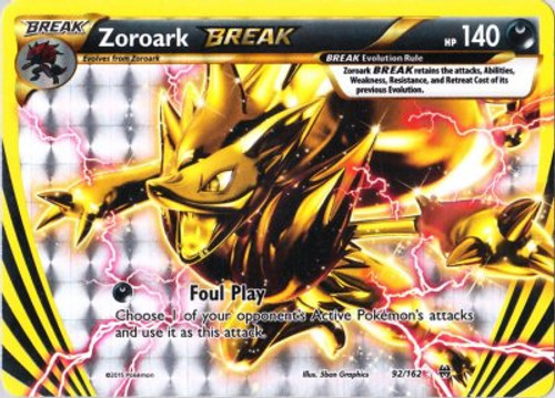 Pokemon X & Y BREAKthrough Rare Holo BREAK Zoroark BREAK #92