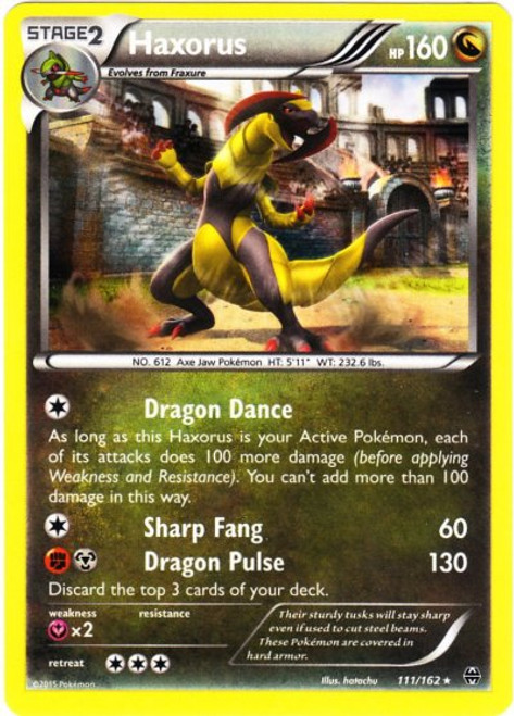 Pokemon X & Y BREAKthrough Rare Holo Haxorus #111