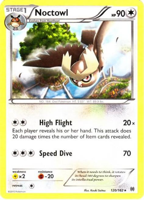Pokemon X & Y BREAKthrough Rare Noctowl #120
