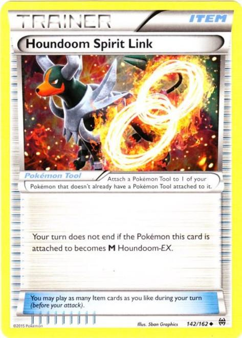 Pokemon X & Y BREAKthrough Uncommon Houndoom Spirit Link #142
