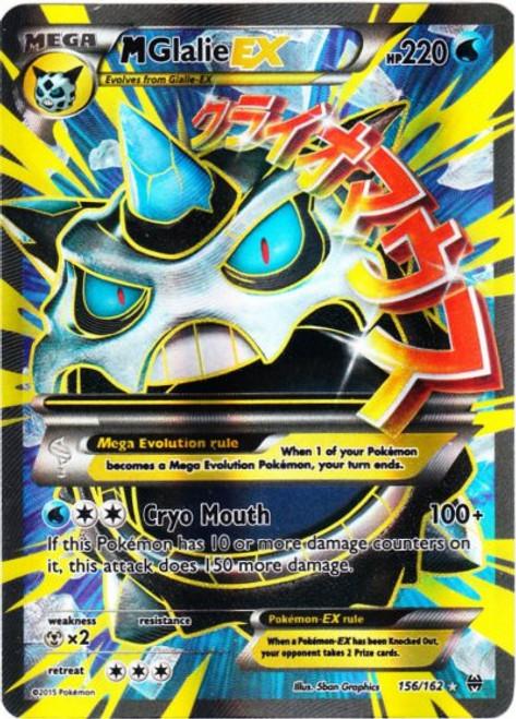 Pokemon X & Y BREAKthrough Ultra Rare M Glalie EX #156