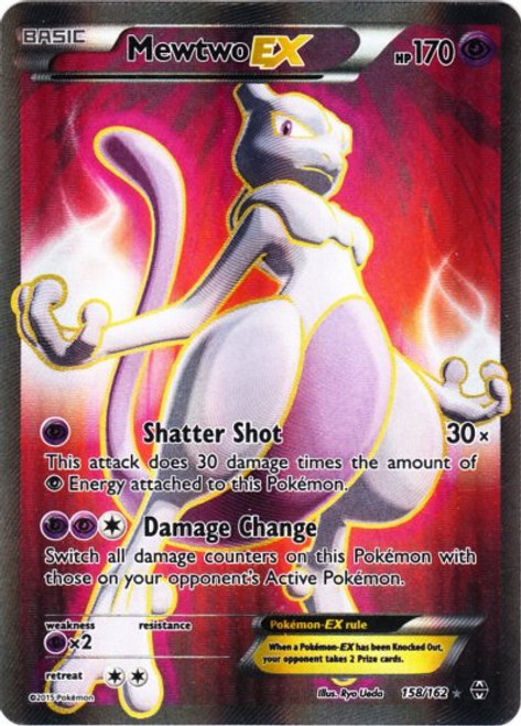 Pokemon X & Y BREAKthrough Ultra Rare Mewtwo EX #158