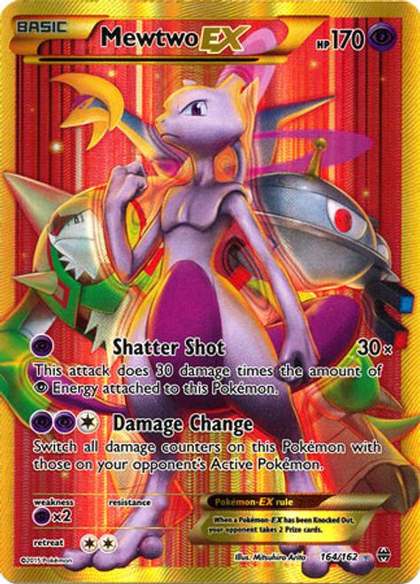 Pokemon X & Y BREAKthrough Secret Rare Mewtwo EX #164