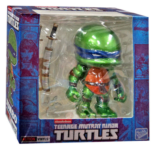 Teenage Mutant Ninja Turtles Mirage Comic Jumbo Leonardo Exclusive 8-Inch Vinyl Figure [Metallic]