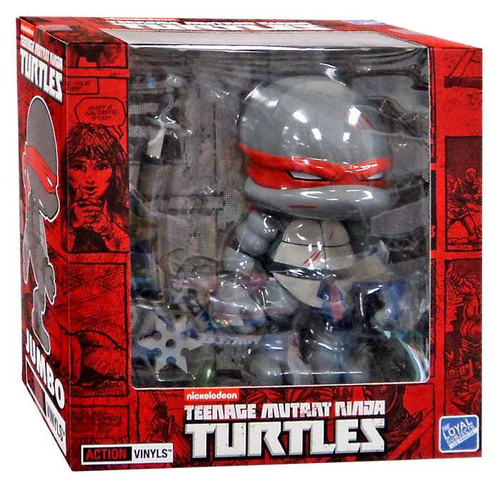 Teenage Mutant Ninja Turtles Mirage Comic Jumbo Leonardo 8-Inch Vinyl Figure [Black & White, Battle Damaged]