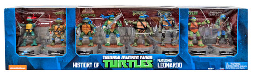 Teenage Mutant Ninja Turtles History of Leonardo Exclusive Action Figure 8-Pack