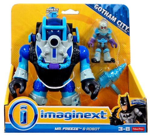 Fisher Price DC Super Friends Imaginext Mr. Freeze & Robot Exclusive 3-Inch Figure Set