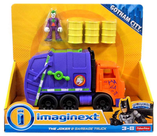 Fisher Price DC Super Friends Imaginext The Joker & Garbage Truck Exclusive 3-Inch Figure Set