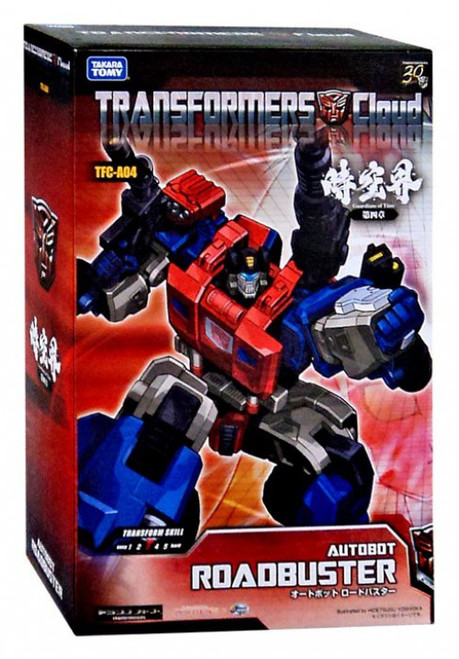 Japanese Transformers Cloud Guardians of Time Roadbuster Exclusive Action Figure TFC-A04