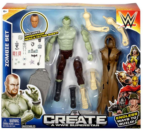 WWE Wrestling Create A WWE Superstar Zombie Action Figure [Undertaker]