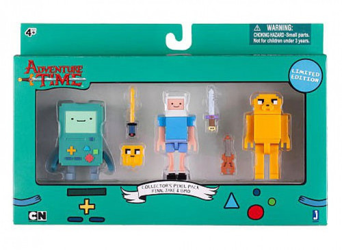 Adventure Time Collector's Pixel Pack Figure Pack [Finn, Jake & BMO]