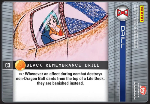 Dragon Ball Z CCG Evolution Common Black Remembrance Drill C3
