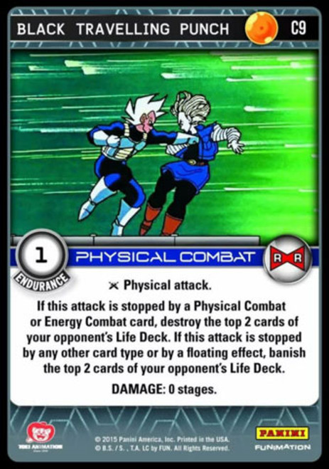 Dragon Ball Z CCG Evolution Common Black Travelling Punch C9