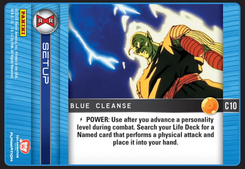Dragon Ball Z CCG Evolution Common Blue Cleanse C10