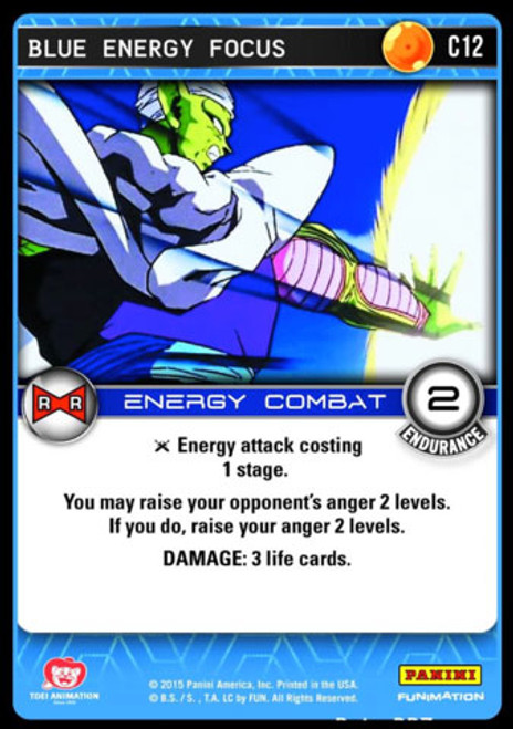 Dragon Ball Z CCG Evolution Common Blue Energy Focus C12