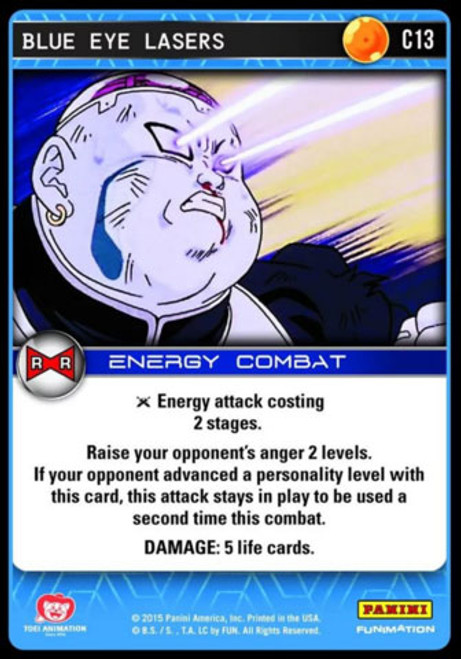 Dragon Ball Z CCG Evolution Common Blue Eye Lasers C13