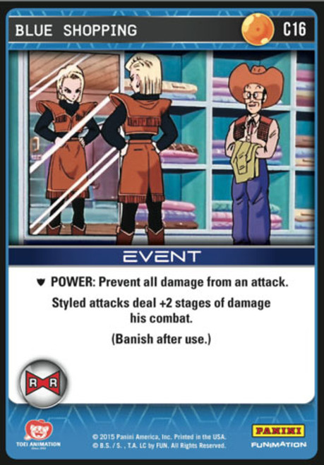 Dragon Ball Z CCG Evolution Common Blue Shopping C16
