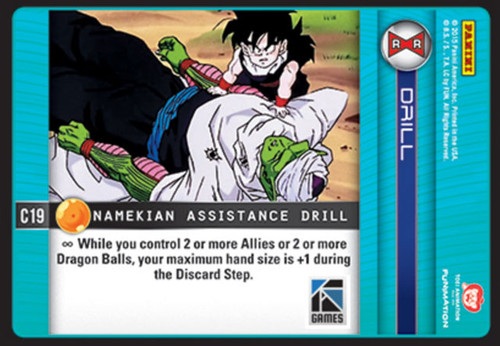Dragon Ball Z CCG Evolution Common Namekian Assistance Drill C19