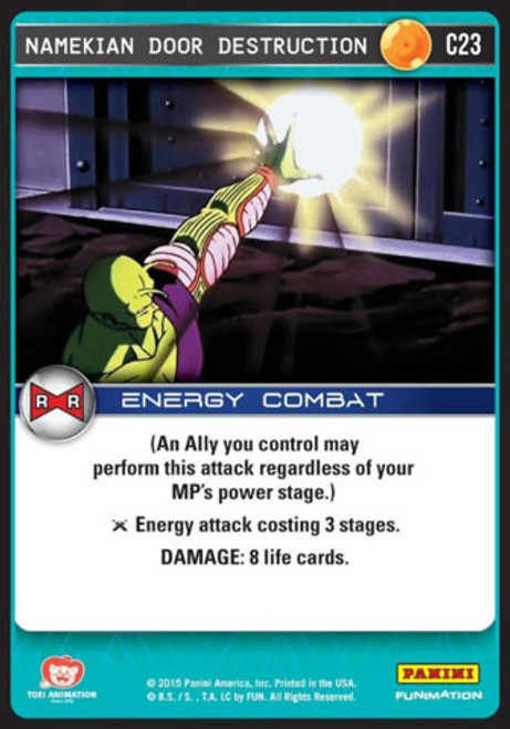 Dragon Ball Z CCG Evolution Common Namekian Door Destruction C23