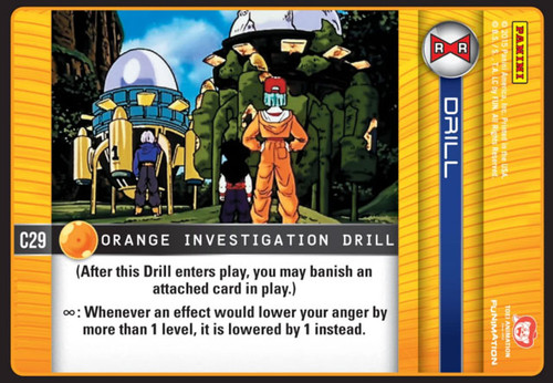 Dragon Ball Z Evolution Common Orange Investigation Drill C29