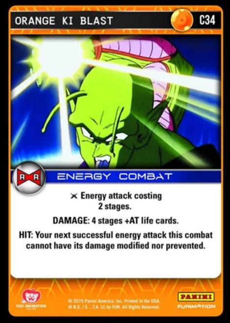 Dragon Ball Z Evolution Common Orange Ki Blast C34