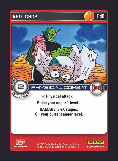 Dragon Ball Z CCG Evolution Common Red Chop C40