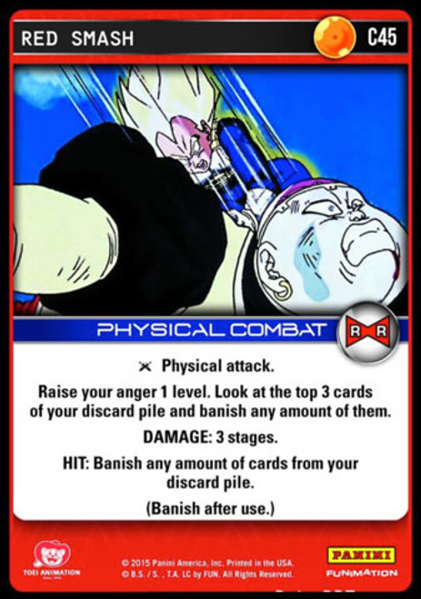 Dragon Ball Z CCG Evolution Common Red Smash C45