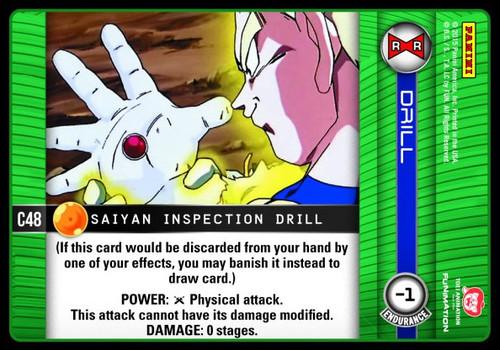 Dragon Ball Z CCG Evolution Common Saiyan Inspection Drill C48