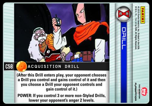 Dragon Ball Z Evolution Common Acquisition Drill C58
