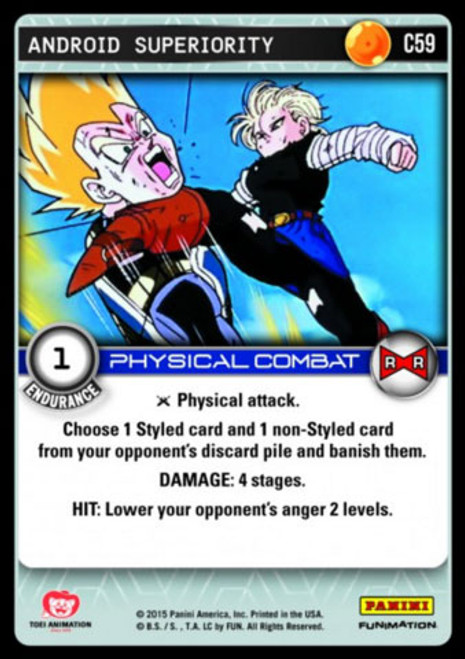 Dragon Ball Z Evolution Common Android Superiority C59